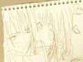 소년 소녀 : 구냥.. 골드잉크를 위하여! 스케치판 ,sketchpan