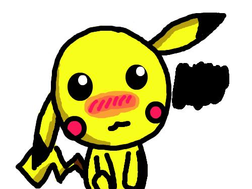 피카츄 : ...피카츄가 엉망이 되어버렸네요 스케치판 ,sketchpan