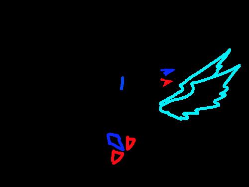 자캐 : 자캐에 날개달아보니...ㅇwㅇ 스케치판 ,sketchpan