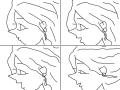 바람 : 머리카락이 바람에 날린다. 스케치판 ,sketchpan