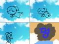 하늘 : 떨어진다 스케치판 ,sketchpan