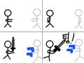 친구들의 전쟁 : 어떤친구가 같이 안 놀아주자 싸움을 시작했다 스케치판 ,sketchpan