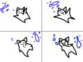 수영 : 고양이 수영 스케치판 ,sketchpan