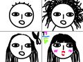 여자의변신 : 변신ㅋㅋㅋ 스케치판 ,sketchpan