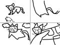 고양이 : 고양이 날다 스케치판 ,sketchpan