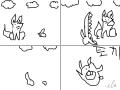 토끼 : 토끼가 여우보다 쎈? 스케치판 ,sketchpan