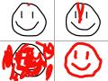 피에 묻힌다 : 피가 흘러 스케치판 ,sketchpan