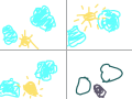 sun rise and set : its about a sun rise and sun set and a moon start and end working on it. 스케치판 ,sketchpan