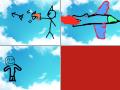맑은하늘 피로 물들다 : 석궁을쏘다 아무이유 없는 사람이 맞아 하늘이 피로 물들음 스케치판 ,sketchpan