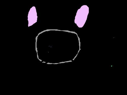 고양토끼의 당근식사 : 흑고양토끼 스케치판 ,sketchpan