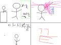 선생님의무서움+비둘기의무서움 : 학교의서 몰폰하면 혼나요 스케치판 ,sketchpan