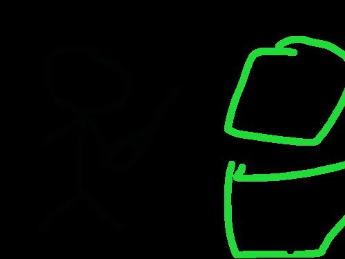 괴물 : 상추괴물 스케치판 ,sketchpan