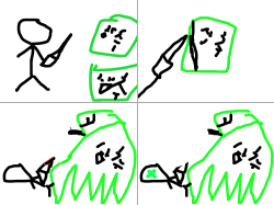 괴물 : 상추괴물 , 스케치판,sketchpan,손님