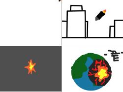 핵폭탄 : ㄷㄷ 무섭 ㄷㄷ , 스케치판,sketchpan,손님