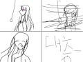 나의 수제수제오프닝ㅋ : 와 눈 감는 속도무엇? 대충그려서 누가보면 유치원생그림인줄ㅋ 스케치판 ,sketchpan