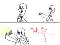 악마 천사 : 스토리 :악마와 천사의 결투 스케치판 ,sketchpan