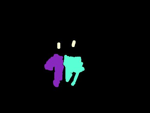 후드티를 입은 아이 : 반반색깔이 특징 스케치판 ,sketchpan