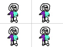 후드티를 입은 아이 : 반반색깔이 특징 , 스케치판,sketchpan,손님