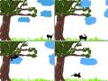 kaķis : kaķis iet un nokrīt no koka. 스케치판 ,sketchpan