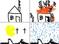 Ričards Ugunsgrēks : a lot of fire fire fire.pacman and rain 스케치판 ,sketchpan