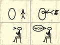 triks : cilvēciņš izlido cauri aplim 스케치판 ,sketchpan