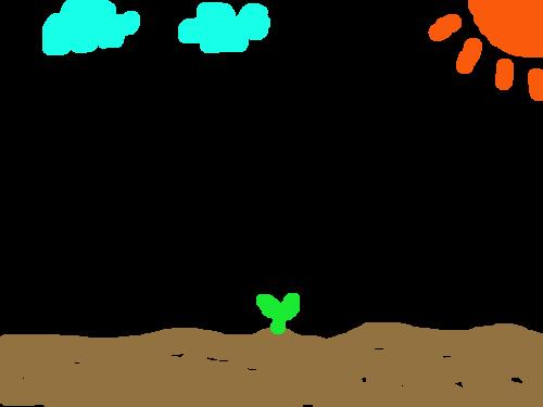 식물 : 식물 키우기 스케치판 ,sketchpan