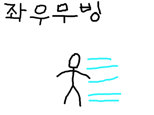분신술의 원리 제 1강-좌우무빙 : 분신술하는 법 강의 스케치판 ,sketchpan