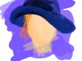 여인 : 모자 쓴 여인 스케치판 ,sketchpan