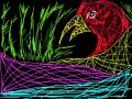 colorful bird : tropical bird, grass, multicolor 스케치판 ,sketchpan