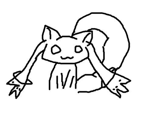 큐베(개깪끼) : 나쁜 개깩끼씨^^ 스케치판 ,sketchpan