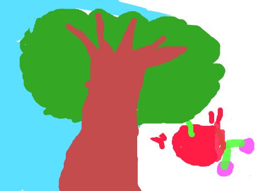 나무 : 봄이 되니까 나무를 그렸습니다. 스케치판 ,sketchpan