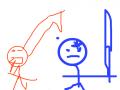 사우지말아요 : 모기보고 칼배지맙시다 스케치판 ,sketchpan