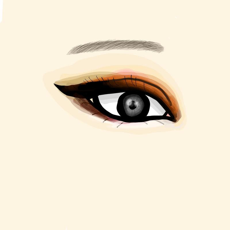 요즘 눈그.. : 요즘 눈그리고 짙은 눈화장하는게  재밌댧 스케치판 ,sketchpan