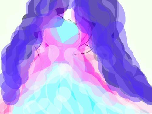 달의 여신 : 생기가득한 그러나 투명한 스케치판 ,sketchpan