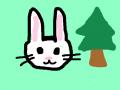 토끼 : 풀 속 토끼 스케치판 ,sketchpan
