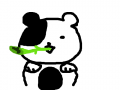 판다 : 눈에 멍이 든 판다 스케치판 ,sketchpan