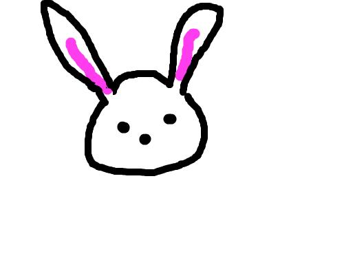 토끼 : 토끼가 온순한 표정으로 바라보고 있다. 스케치판 ,sketchpan