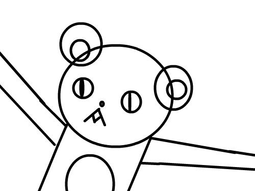 애니몰 : 뀨뀨 곰돌이 스케치판 ,sketchpan