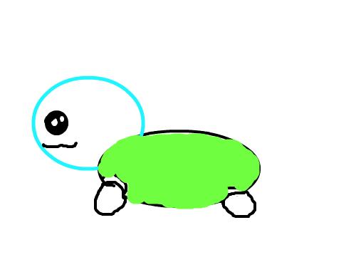 꼬부기 : 귀욤이 꼬북꼬북 스케치판 ,sketchpan