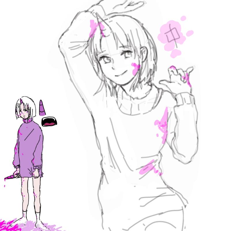 뇨힝 : 뇨힝 스케치판 ,sketchpan