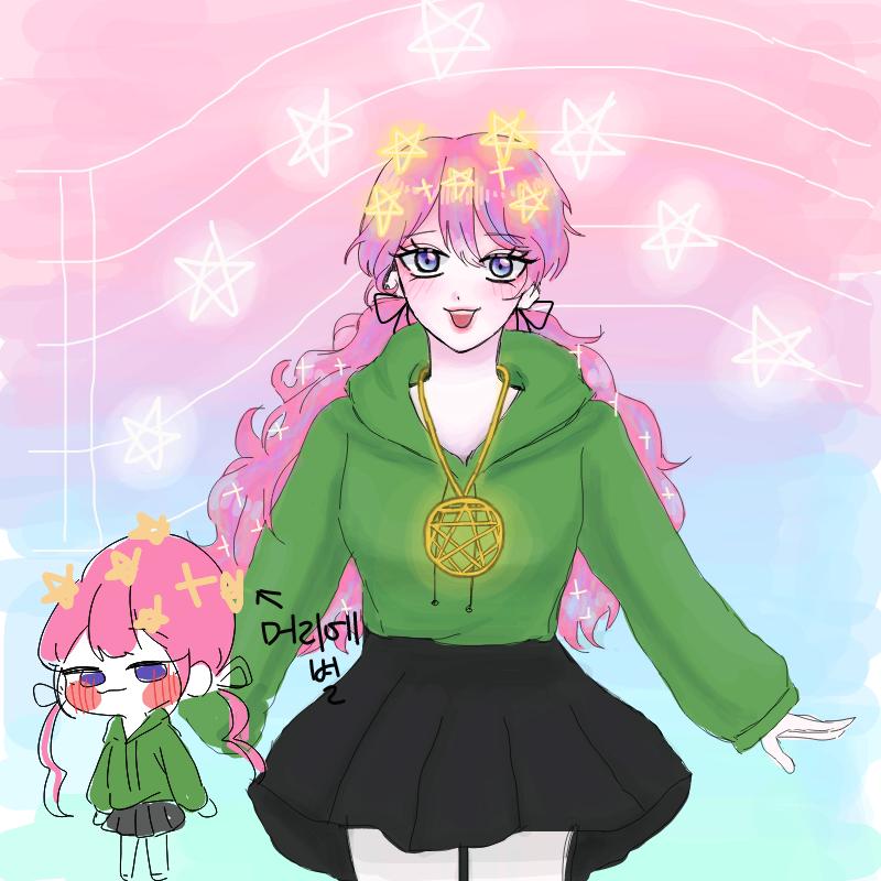 마법소녀 .. : 마법소녀 포로롱-☆ 스케치판 ,sketchpan