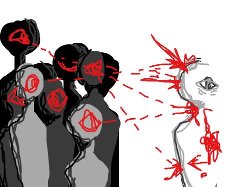 가끔은추상적인것도나쁘지않아요 : 분명그들도나와같은외눈박이일텐데왜이리도나를싫어할까요?나는잘못한게없는데등뒤가아려오더니결국엔뒤돌아보지않아도알수있을만큼난감한시선들이하나씩몸에박힙니다그모든눈빛을시선을보내는사람도밉지만나를그렇게보는것만으로판단해버리는사람이제일싫어요 스케치판 ,sketchpan