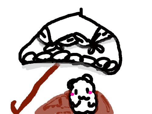 우산아래 정체모르는 생명체 : 몰라요 막그리다보니 나왔어요 스케치판 ,sketchpan