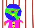 아빠 지구 : 아빠지구도 줄무늬 스케치판 ,sketchpan