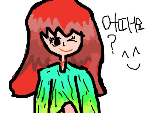 어떠나요? : 2번째로 연두색 옷 여자를 그려봤어요! 스케치판 ,sketchpan