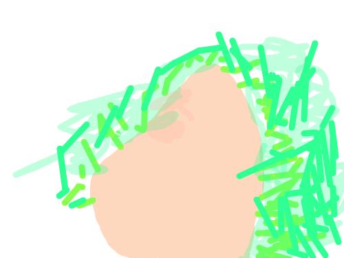 삼발머리 : ..................... 스케치판 ,sketchpan