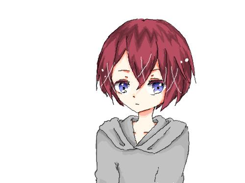 赤い女の子 : 可愛い子 스케치판 ,sketchpan