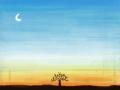 이른 밤의 사막 : 이른 밤의 사막 스케치판 ,sketchpan