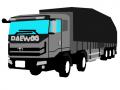 대우 프리마 카고트럭 후쌍축 : 대우 프리마 카고트럭 후축개조 스케치판 ,sketchpan