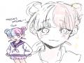 귀여운 아.. : 귀여운 아이 '-' )~ 스케치판 ,sketchpan